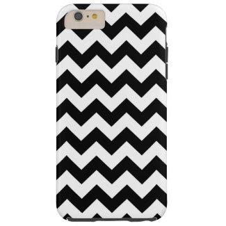 Horizontal Black & White Zigzag iPhone 6 Plus Case