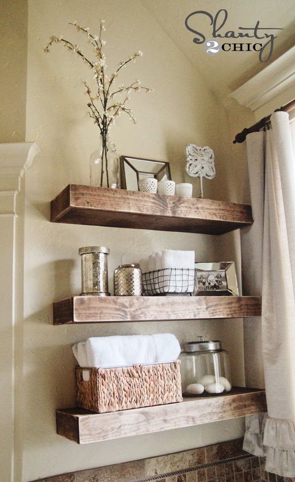 Easy DIY Floating Shelves! - Shanty 2 Chic