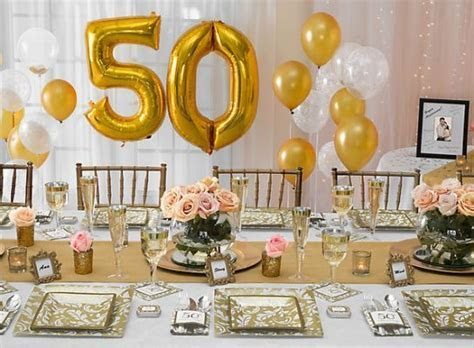 50th Anniversary Ideas   Party   Table Decor   50th