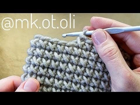 Crochê:  padrão de malha tecida... ? confira...