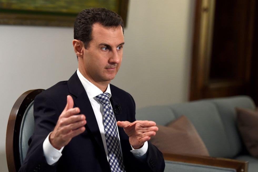 Bashar al-Assad, durante a entrevista neste sábado.