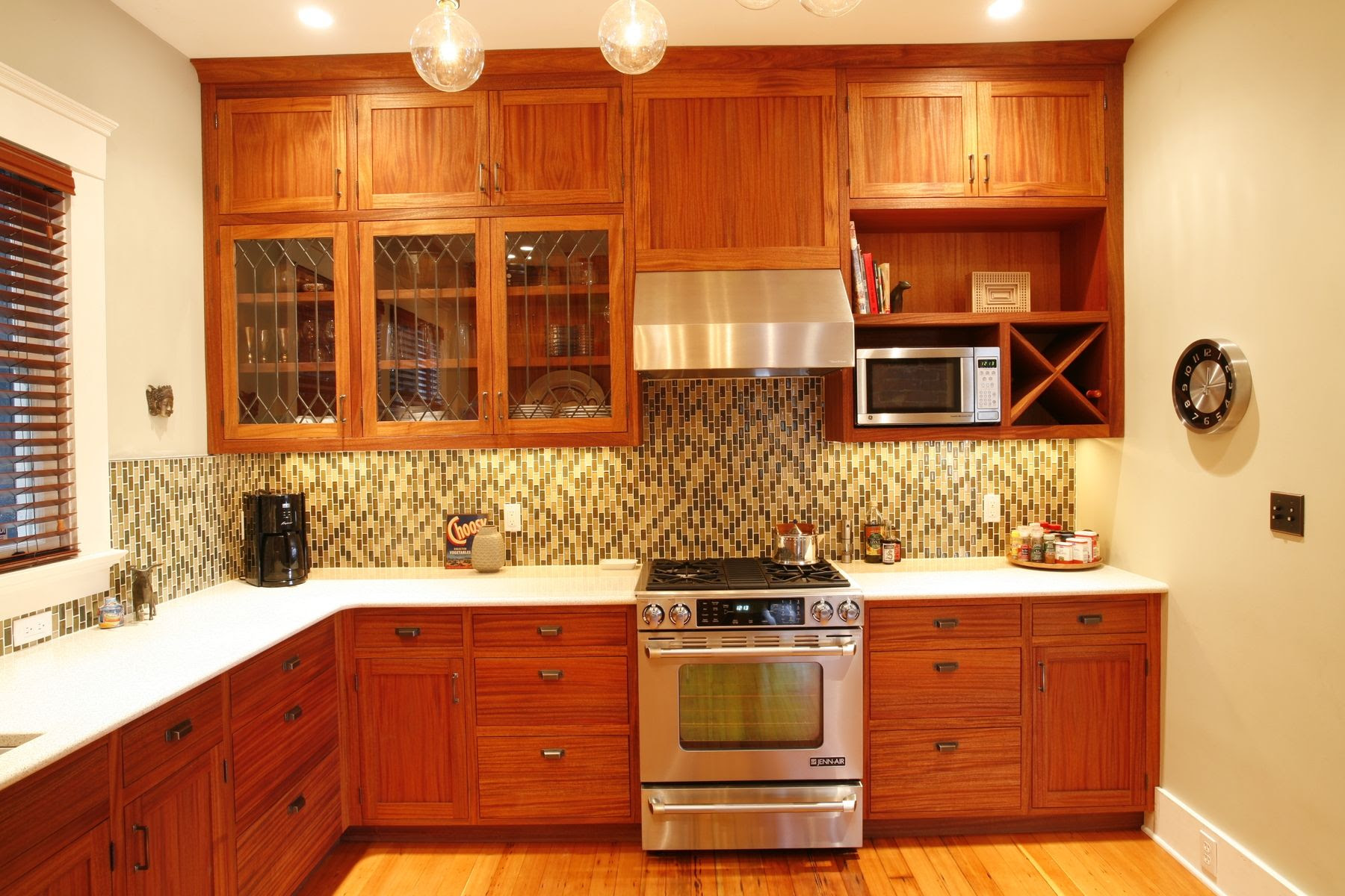 Custom African Mahogany Kitchen by Brooks Woodworks ...
