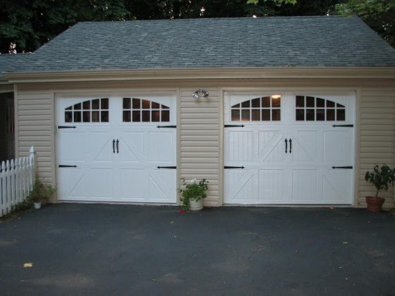 Double Garage Door Ideas White Doors