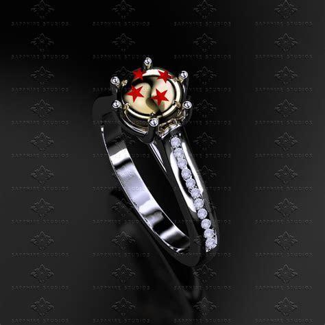'Dragon Ball Z' Natural Diamond White/Yellow Gold Ring