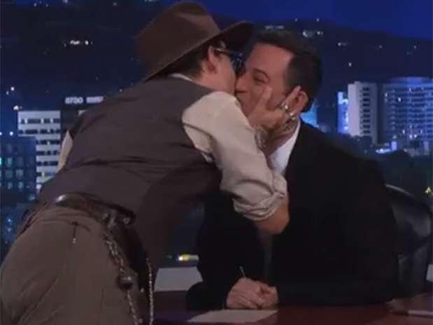 Depp foi convidado no talk show de Jimmy Kimmel Foto: Reprodução