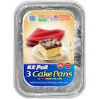 Hefty EZ Foil Cake Pans - 3 count