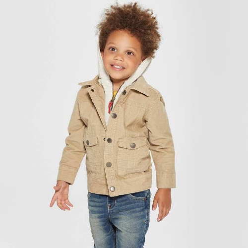 5dd1b04e Toddler Boys' Genuine Kids from OshKosh Corduroy Track Jacket with  Removable Hood - Light Brown 18M