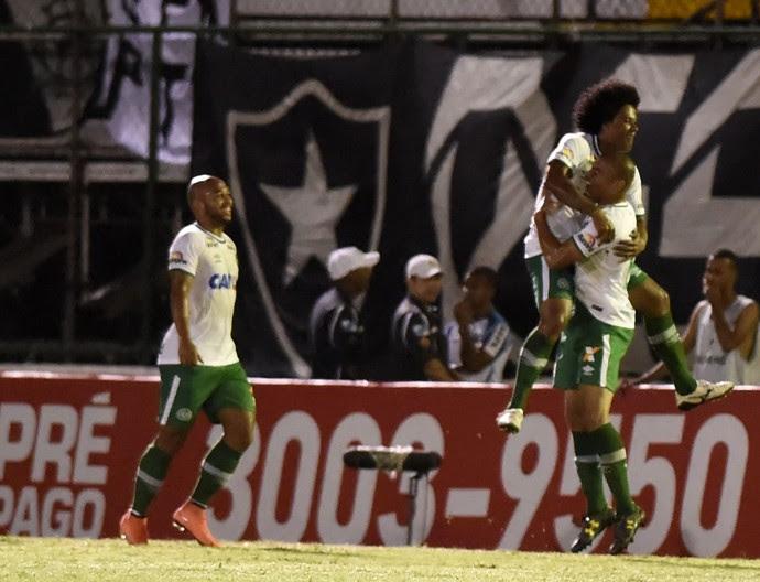 Kempes gol chapecoense botafogo (Foto: André Durão / GloboEsporte.com)