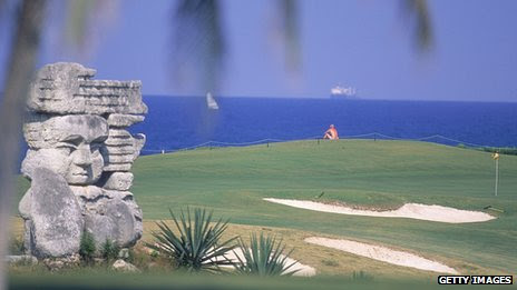 Varadero golf club in Cuba shortly after it opened on 20 November 2000