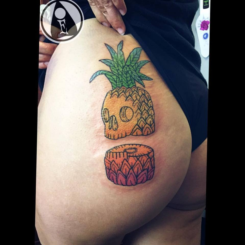 63 Amazing Pineapple Tattoo Idea For People Who Are ...