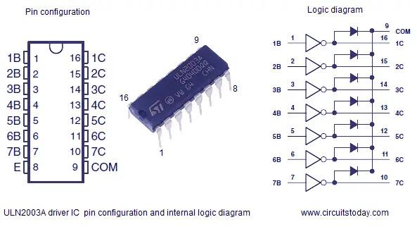 uln2003 logic diagram