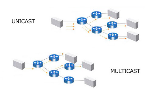 Transmisi Multicast dan Unicast Video Streaming