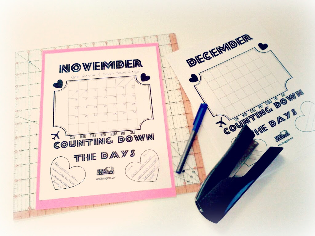 HOW TO A Countdown Calendar for your Long Distance Love w Free Printable