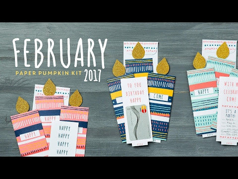 February Paper Pumpkin Kit in the Mail Video