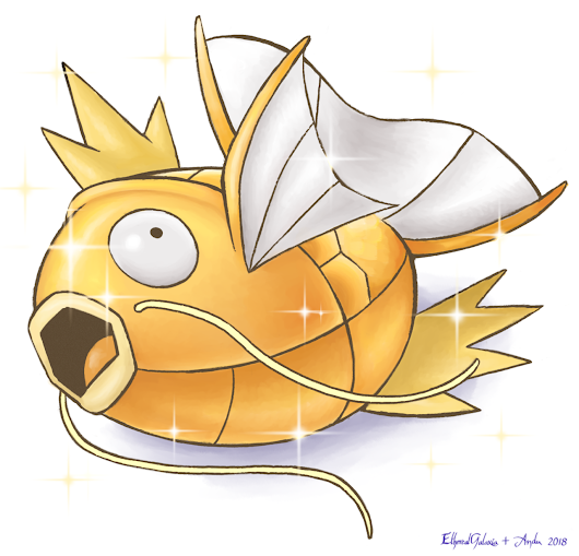 ethereal-galaxia-art: Shiny Magikarp collab with... | The Original Pokémon Community!