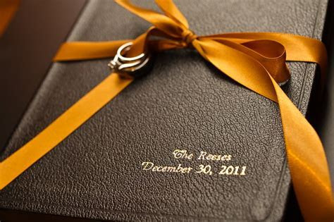 """use a bible as a ring bearer """"pillow"""" I think this is a"""