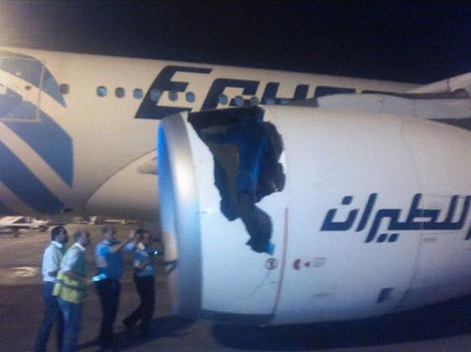 Incident: Egypt A332 at Cairo on May 15th 2017, rejected takeoff due to engine failure