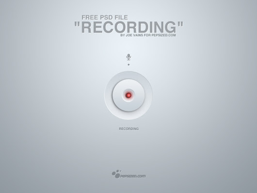 "Free layered PSD file ""recording"" 
