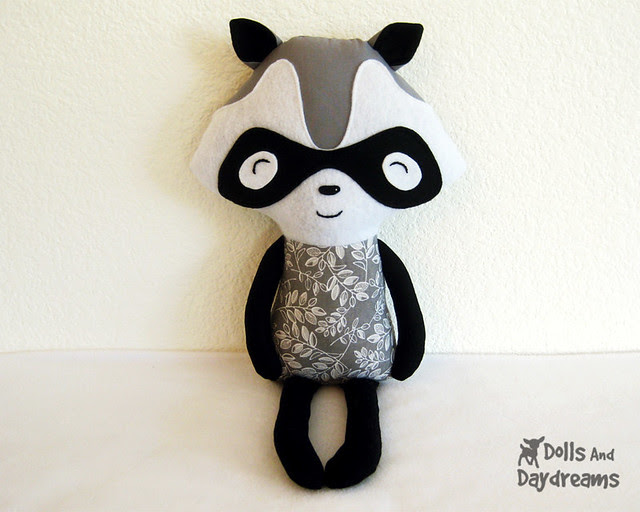 Raccoon Softie Sewing Pattern