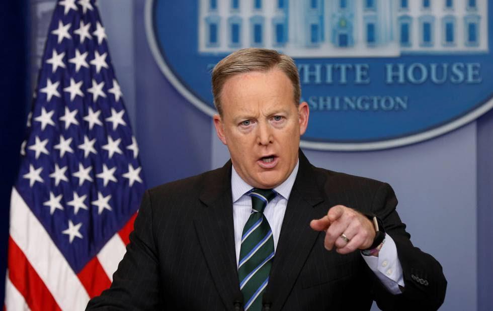 El portavoz de la Casa Blanca, Sean Spicer, este miércoles