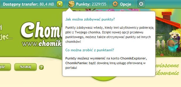 Chomikuj.pl - darmowa wyszukiwarka: Jak zemienić punkty na