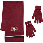 Little Earth San Francisco 49ers Scarf and Glove Gift Set Chenille