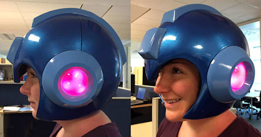 Capcom is making a light-up 'Mega Man' helmet