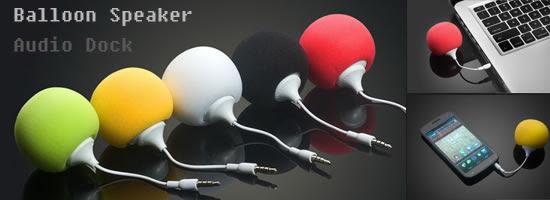3.5 mm Balloon Speaker Audio Dock with Sponge Hat