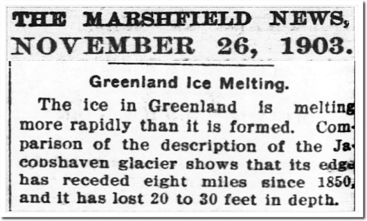 Greenland Glaciers Advancing Since 2013 | The Deplorable Climate Science Blog