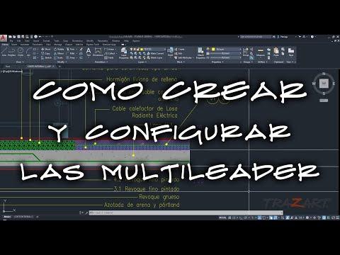 Como crear y configurar las multileader en AutoCAD