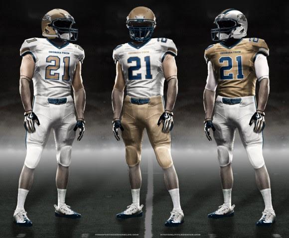 The Sports Design Blog » Uniform Concept - Georgia Tech football