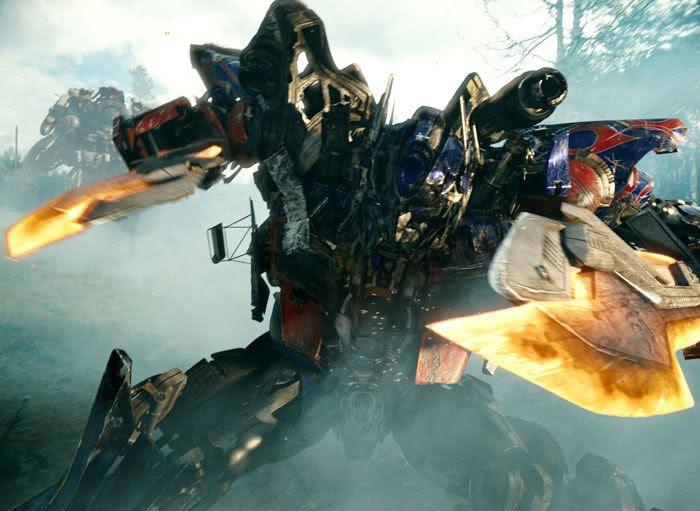 Optimus Prime prepares for battle.