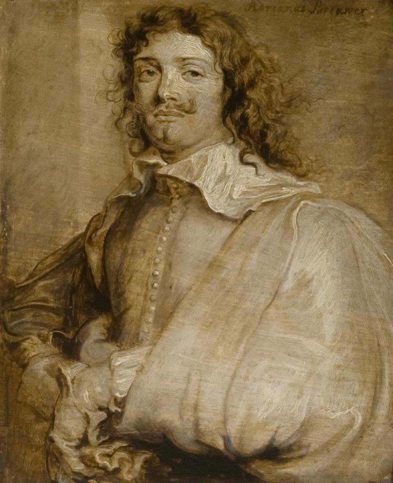 Retrato de Adriaen Brouwer por Anthony van Dyck