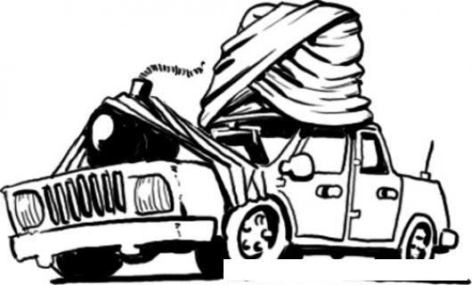 Coche Bomba Arabe Dibujo Para Pintar Y Colorear Un Carro Bomba De