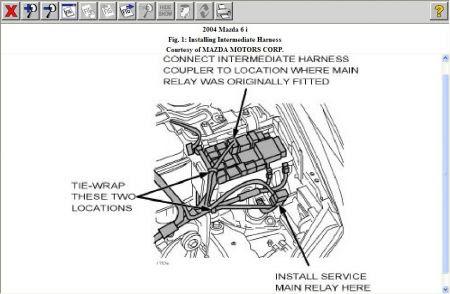 2004 Mazda 6 Wiring Harness