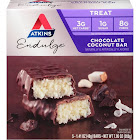 Atkins Chocolate Coconut Bar Endulge - 5 pack, 1.4 oz bars
