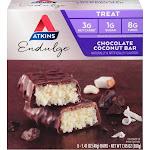 Atkins Chocolate Coconut Bar Endulge - 5 pack, 1.4 oz bars