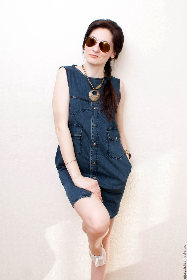 How to sew a stylish dress denim shirt