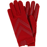 Isotoner Women's Unlined Touchscreen Driving Gloves Red