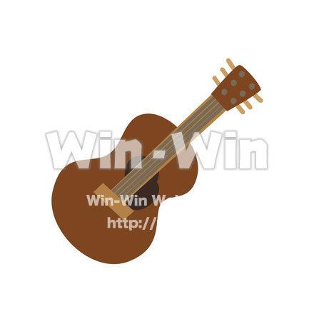 ポークギター アコースティックギター W 021052 の無料cgイラスト素材