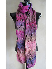 Curvy Scroll Lace Scarf Knit Pattern - Electronic Download