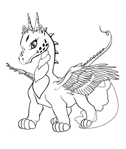 9200 Top Coloring Pages Of Cute Baby Dragons Images & Pictures In HD