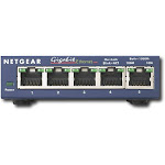 NETGEAR - 5-Port 10/100/1000 Gigabit Ethernet Unmanaged Switch - Blue