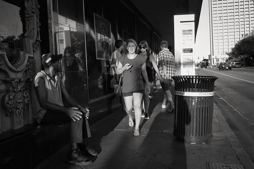 Two Women on the Sidewalk by Jesse Acosta
