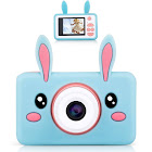 Lilexo Kids Camera - Children Digital Camcorder for Girls Gifts, with Anti Slip Grip and Shockproof Animal Protective Silicone Cover - 16GB Memory
