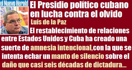 presidio politico cubano lucha contra olvido