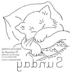 Monarch 206 - cat pattern