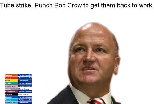Punch Bob Crow screengrab - click to play