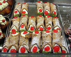 Cannoli Siciliani, a typical sicilan sweet.
