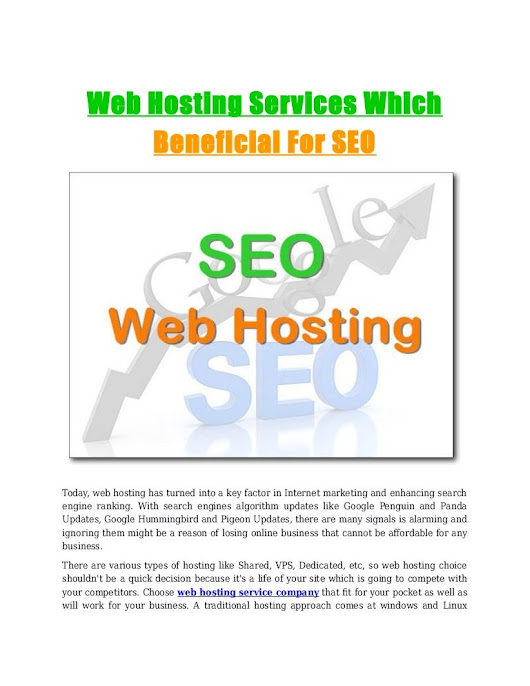 Web hosting services which beneficial for seo